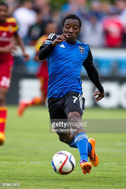 San Jose Earthquakes midfielder Cordell Cato passes the ball during a major league soccer game between the San Jose Earthquakes and the Real Salt...