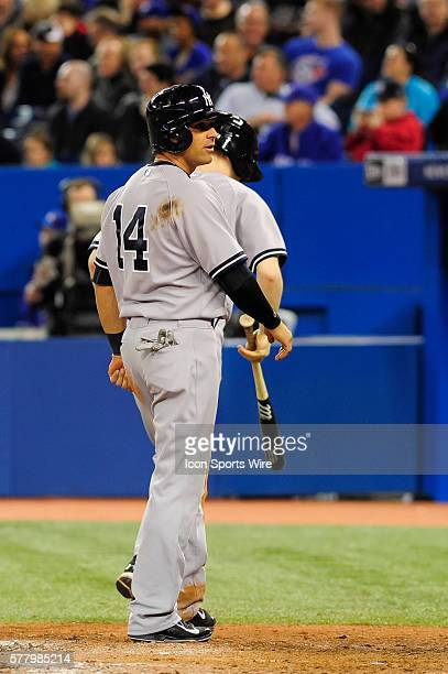 New York Yankees infielder Brian Roberts scores from second on a ground rule double The New York Yankees defeated the Toronto Blue Jays 6 4 at the...