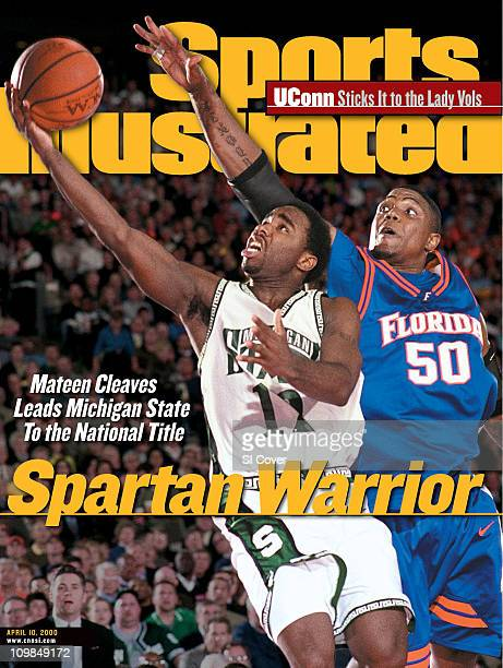 April 10, 2000 Sports Illustrated via Getty Images Cover:College Basketball: NCAA Final Four: Michigan State Mateen Cleaves in action, layup vs...