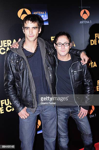 April 10 2008 Madrid Spain Premiere of the movie 'Fuera de Carta' In the image Aitor Luna and Carlos Santos actors