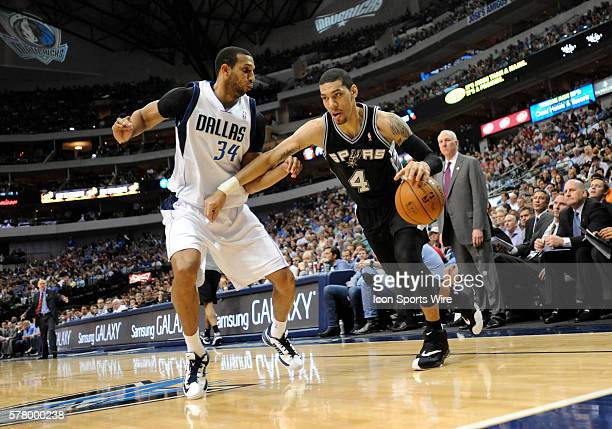 San Antonio Spurs guard Danny Green during an NBA game between the San Antonio Spurs and the Dallas Mavericks at the American Airlines Center in...