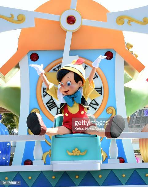 TOKYO April 10 2018 The Tokyo Disneyland holds a rehearsal for the celebration of the 35th anniversary of its opening in Tokyo Japan April 10 2018...