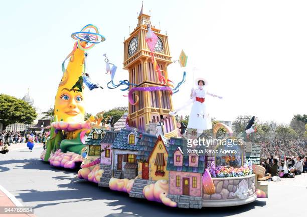 April 10, 2018 -- The Tokyo Disneyland holds a rehearsal for the celebration of the 35th anniversary of its opening in Tokyo, Japan, April 10, 2018....