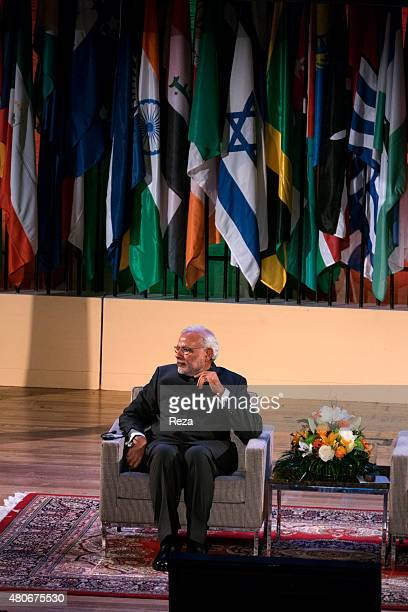April 10 Grand Auditorium World Heritage Center UNESCO headquarter Paris France His Excellence Shri Narendra Modi the India's Prime Minister in front...