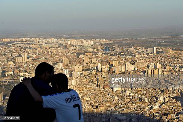 April 10th Algeria Conversation complicity and tenderness between a father and his son on the Aidour mountain also known as Murdjadjo overlooking the...
