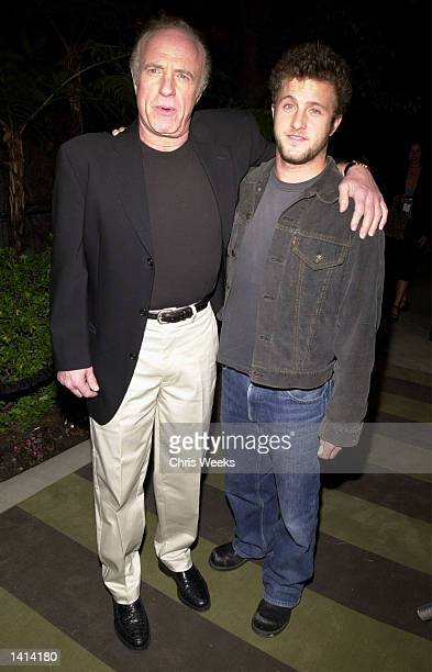 April 11 2000 James Caan and son Scott Caan arrive at the grand opening of W Los Angeles Hotels location in Westwood CA