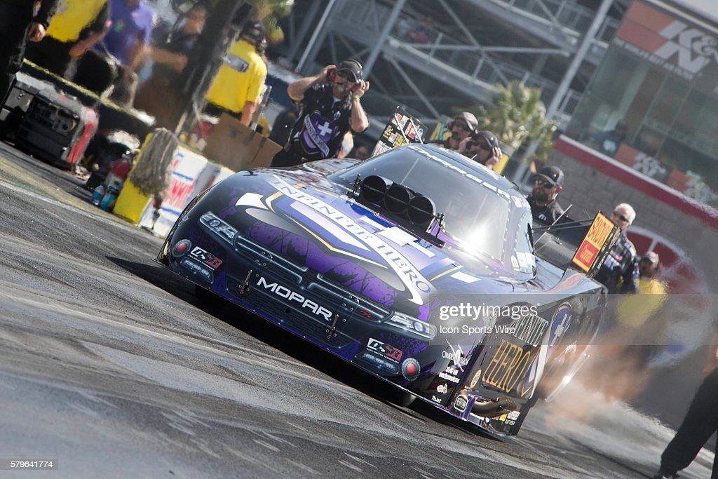 Jack Beckman Dodge Charger Nhra Funny Car During The Second Day Of News Photo Getty Images