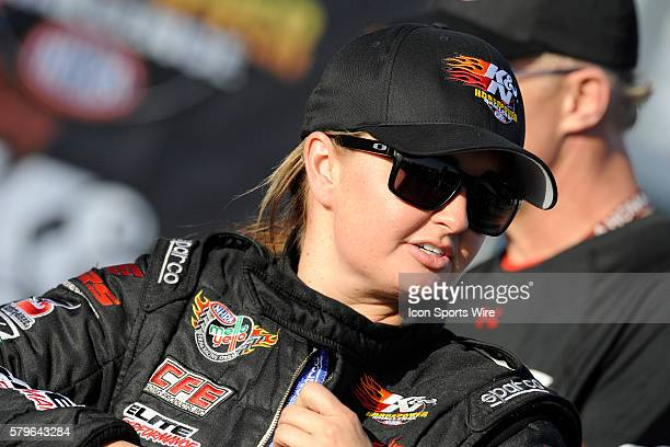 Erica EndersStevens Chevrolet Camaro NHRA Pro Stock wins the KN Horsepower Challenge during the 16th Annual SummitRacingcom Nationals on The Strip at...