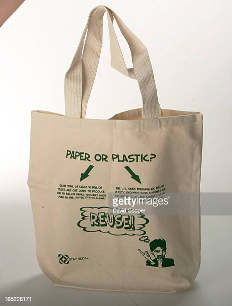 Nonplastic bags Shopping story for Earth Day section about how plastic bags are out recycled canvas and ecofriendly shopping bags are in