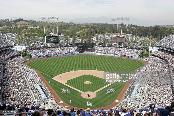 April 13 2009 Opening Day at Dodger Stadium The Los Angeles Dodgers defeated the San Francisco Giants by the final score of 111 at Dodger Stadium in...