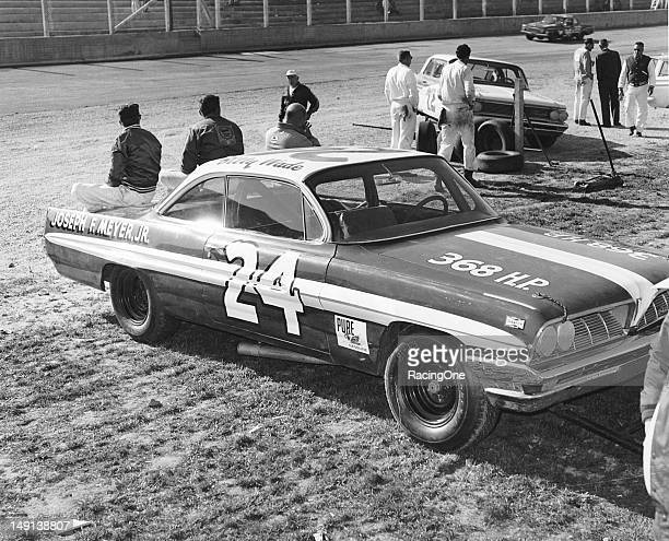 Billy Wade drove this 1961 Pontiac owned by James Turner in the Gwyn Staley 400 NASCAR Cup race at North Wilkesboro Speedway Wade started third in...