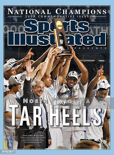 April 15 2009 Sports Illustrated Presents Cover College Basketball NCAA Final Four UNC victorious with NCAA National Championship trophy after win vs...