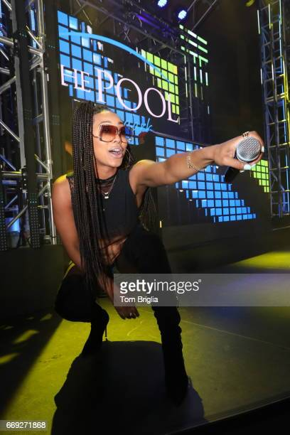 Keri Hilson performs at The Pool After Dark at Harrah's Resort on Saturday April 15 2017 in Atlantic City New Jersey