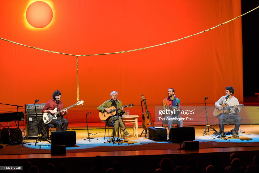 BETHESDA, MD - April 15th, 2019 - Brazilian guitarist Caetano Veloso