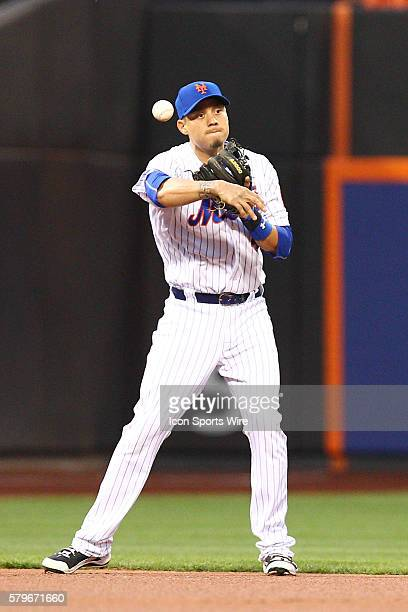 New York Mets Shortstop Wilmer Flores [5870] during a MLB National League game between the Miami Marlins and the New York Mets at Citi Field in...