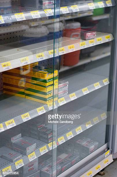 April 17 Walmart carrying Ammunition on Shelves with most shelves empty