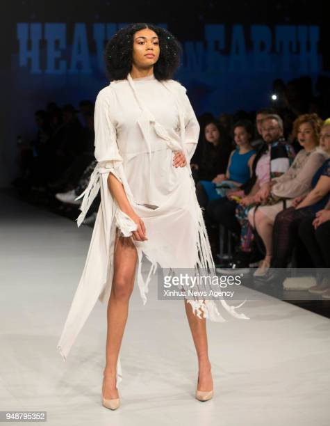 TORONTO April 19 2018 A model presents a creation by Alexander Kershaw during the 2018 Fashion Art Toronto event in Toronto Canada April 18 2018 With...