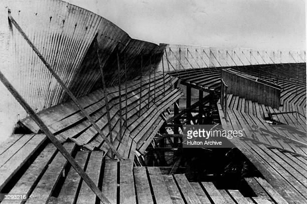 A section of the terracing which collapsed at Ibrox Park football ground in Glasgow killing 25 people and injuring 517 during the Scotland v England...