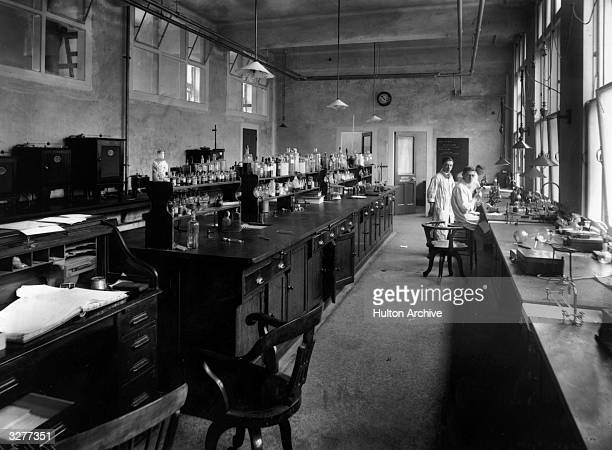 King's College Hospital laboratory, at Denmark Hill, South London, April 1914.