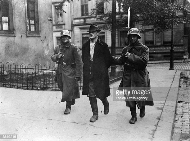 The arrest of a left wing sympathizer in Essen Germany