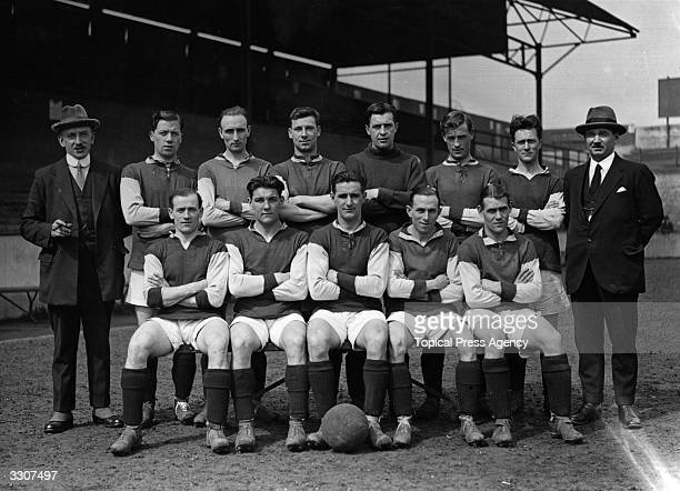 The West Ham United team who lost to Bolton Wanderers in the first FA Cup Final to be played at Wembley Stadium manager Syd King W Henderson S Bishop...