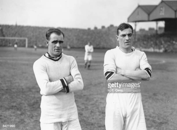 Aston Villa FC football players Kirton and R York at Highbury London