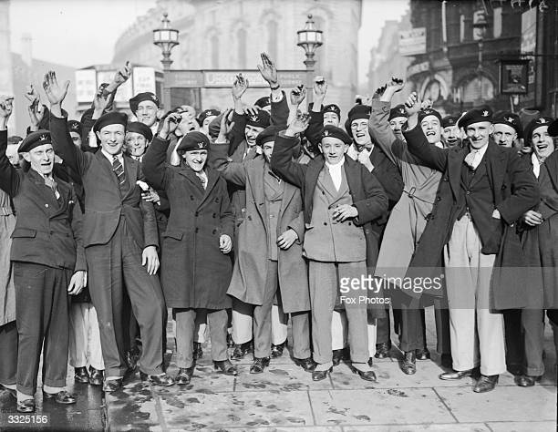 Supporters arrive in London for the FA Cup final between Bolton Wanderers and Portsmouth at Wembley Bolton Wanderers Football Club won 20