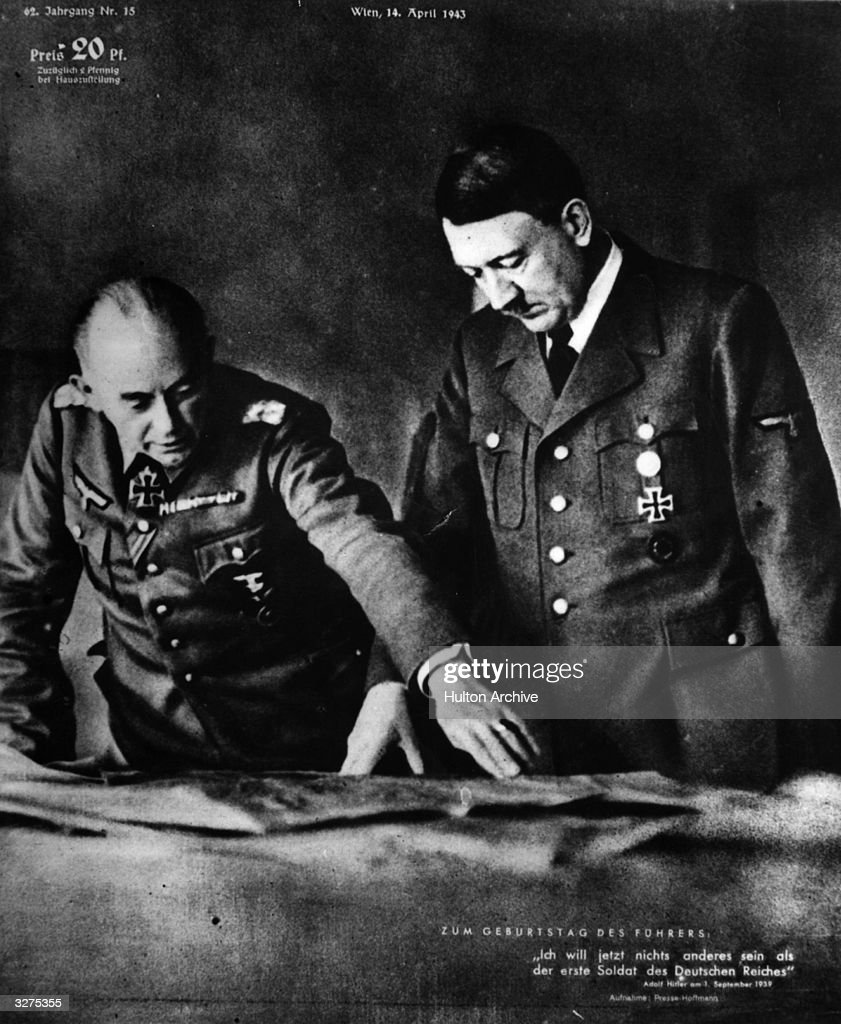 German Nazi dictator Adolf Hitler planning his next move.