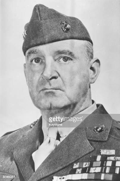 Lieutenant General Alexander Vandegrift the Commandant of the US Marines