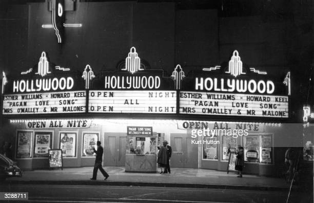One of Hollywood's cinemas in Los Angeles California Original Publication Picture Post 5298 We Go To Hollywood pub 1951