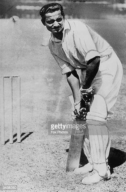 Hazare of the Indian test team in action.