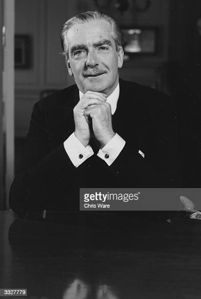 24ca451ea3210 Prime Minister Sir Anthony Eden on the day of Sir Winston Churchill s  resignation He was previously