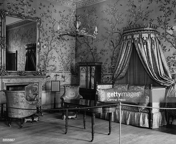 The sitting room of the King's Rooms at Belvoir Castle in Leicestershire, seat of the dukes of Rutland since its construction in 1805. Still...