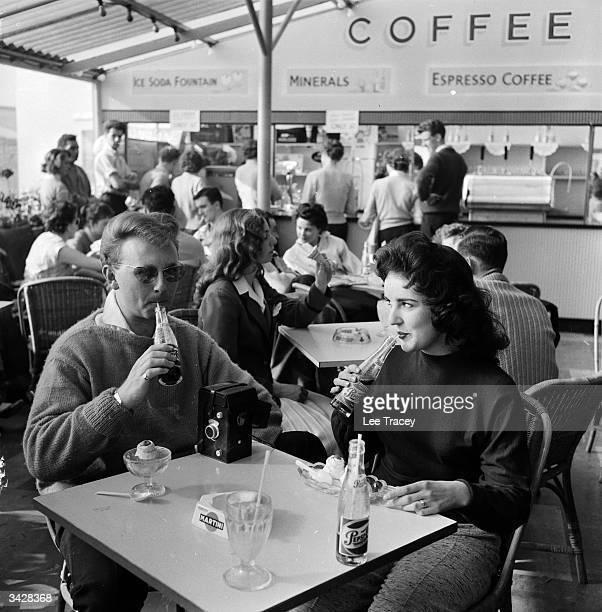 A honeymooning couple at Billy Butlin's Ocean Hotel in Saltdean near Brighton in Sussex