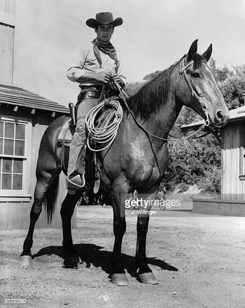 American actor Robert Fuller playing Jess Harper in the television western Laramie