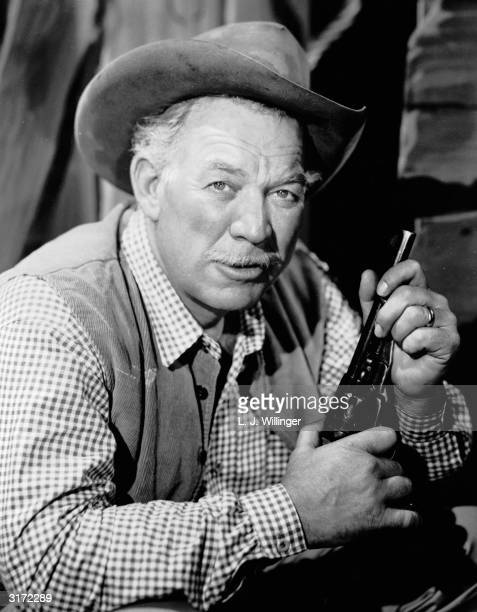 American actor Ward Bond starring in the NBC hit television series 'Wagon Train'