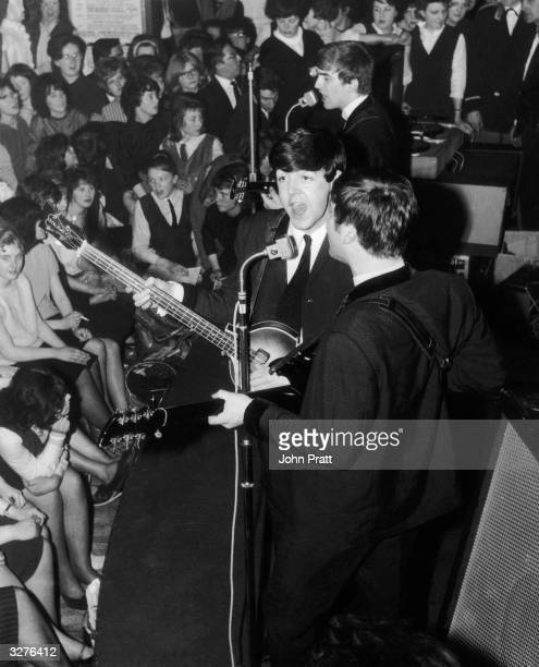 British pop group The Beatles in concert