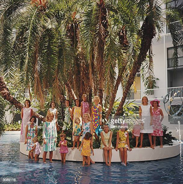 Young matrons of Palm Beach Florida Most of them are wearing a gaily coloured Lilly Pulitzer shift A Wonderful Time Slim Aarons