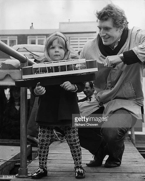 English actor Corin Redgrave the son of Michael Redgrave with his daughter Jemma