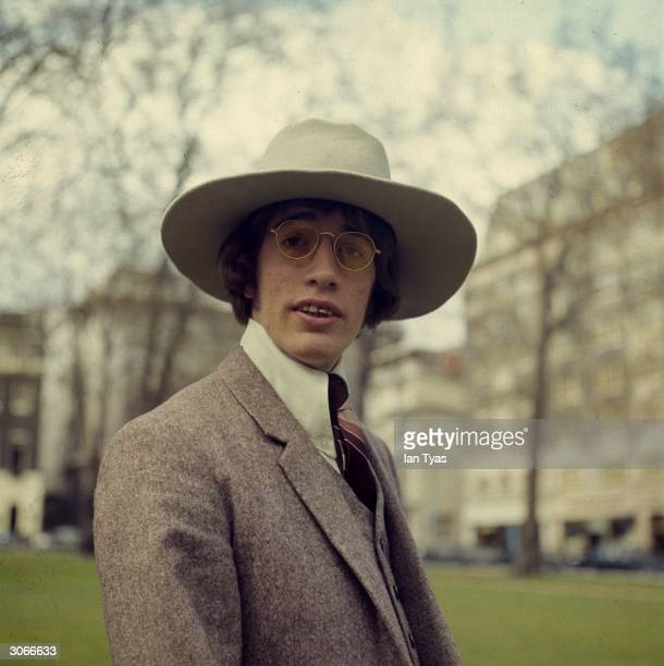Robin Gibb brother of Maurice and Barry and the third member of the popular disco band The Bee Gees