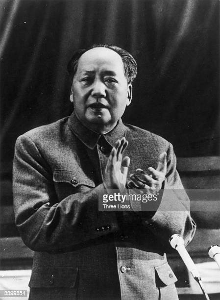 Chinese Communist leader and principal founder of the People's Republic of China Mao Tsetung at the 9th Chinese Communist Party Congress