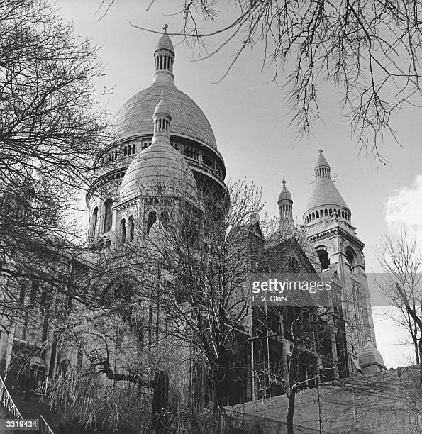 Trees surrounding the Cathedral of the SacreCoeur at Montmartre