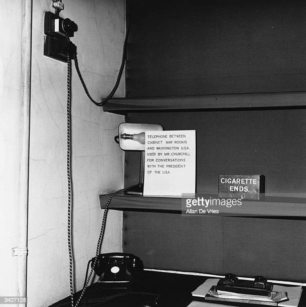 The telephone connecting the Cabinet War Rooms with Washington, as used by Winston Churchill for conversations with the American president, on...