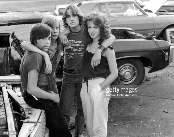 Photo of Matt Dillon with Pamela Ludwig and others from the film 'Over The Edge'