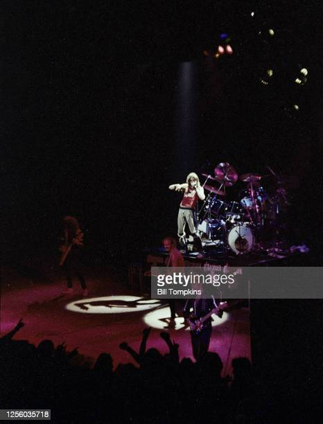 MANDATORY CREDIT Bill Tompkins/Getty Images Saxon performs at Madison Square Garden April 1982 in New York City