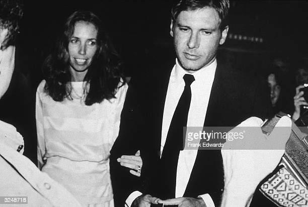 American actor Harrison Ford and wife screenwriter Melissa Mathison arrive at the 35th Annual Writers Guild Awards at the Beverly Hilton Beverly...