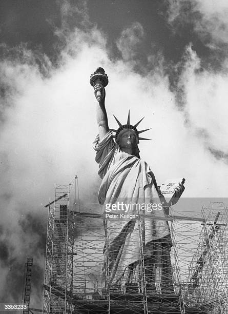 The statue of Liberty on Ellis Island in New York was opened in 1886 and is now in need of repairs which will cost around $30 million