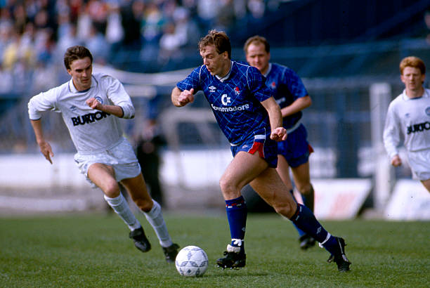April 1989 - Football League Division Two - Chelsea v Leeds United - Kerry Dixon of Chelsea.