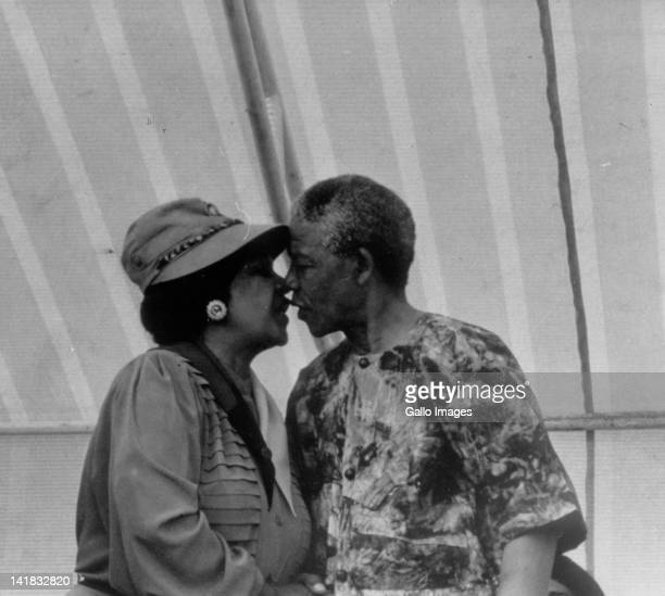 Nelson Mandela and his wife Winnie MadikizelaMandela
