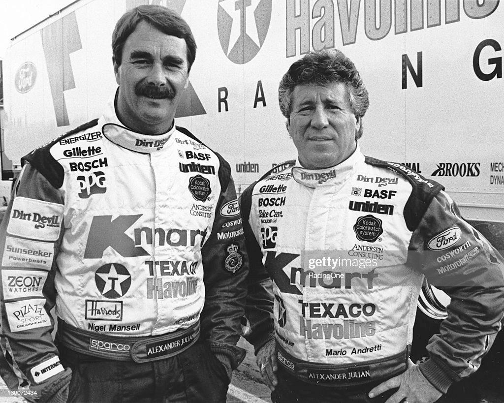 Nigel Mansel-Mario Andretti - Phoenix 1994 : News Photo